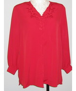 Jon Lawrence LTD  True Red Womans Blouse Size 2... - $22.00