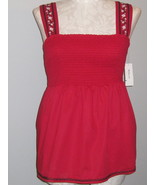 Style & Co Bright Red Smock Sleeveless Top Size... - $22.00