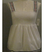 Style & Co  White Embroidered Smock Size 16 NWT - $22.00
