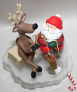 Hallmark Santa and his Reindeer Ice Fishing for... - $7.50