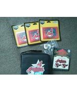 Cleveland Indians LOT 6 CD padded case 3 magnet... - $14.69