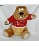 """Ohio State Buckeyes 8 ½"""" Brown Plush Mascot Bear - $10.00"""