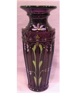 Fenton Vase Royal Purple Yenowine Art Glass - $65.00