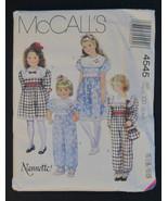 McCalll's #4545 Nannette Girls Dress/Jumpsuit/B... - $5.99