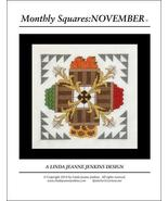 Monthly Squares November cross stitch card char... - $6.00