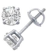 Mens Ladies White Gold Finish Lab Diamond Round... - $7.91 - $14.84
