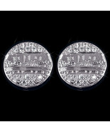 Mens Ladies 14K White Gold Fin Lab Diamond Last... - $29.69