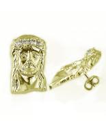 Ladies Mens Yellow Gold Finish Lab Diamond Jesu... - $39.59