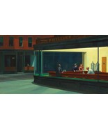 Nighthawks by Edward Hopper  Americano Cafe Sce... - $59.39