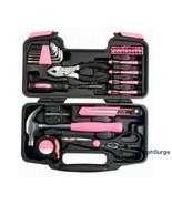 Ladies Girls Tools Womens Tool Set Kit Box Pink... - $37.39