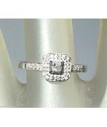 Diamond Halo Engagement Ring White Gold 10kt - $168.88