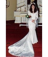 Satin and Lace Mermaid Style Bridal Gown Size 9 - $149.99