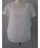Style & Co White Ladies Short Sleeve Twinset Si... - $18.00