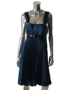 $179 JS Collections aqua pleated dress with seq... - $64.95