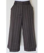 $298 Diane von Furstenberg brown striped wide-l... - $54.95