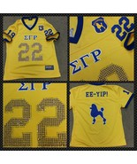SIGMA GAMMA RHO short sleeve Football jersey Go... - $57.00