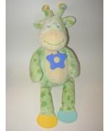 Kellytoy Green Yellow Giraffe Baby Plush Stuffe... - $19.99
