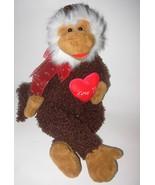Walmart Love You Monkey Valentine Heart Plush S... - $28.88