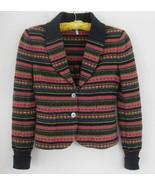 IISLI Nordic sweater jacket 6 Wool bl knit Pink... - $49.99