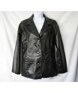 EMPORIO COLLEZIONE Womens Black Leather Jacket ... - $17.00
