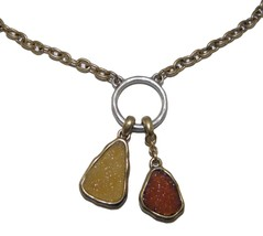 NEW LUCKY BRAND 2 TONE TWO STONES GOLD & SILVER... - $20.57