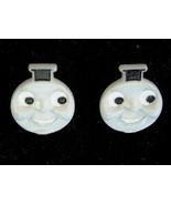 THOMAS the TANK ENGINE BUTTON EARRINGS-Train Ch... - $6.97