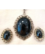 Whiting and Davis Hematite Necklace and Earrings - $14.00