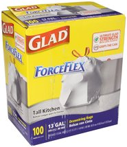 Glad Drawstring Forceflex Tall White Kitchen Ba... - $37.99