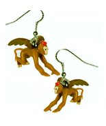 Flying MONKEY EARRINGS-Wizard of Oz Witch Funky Novelty Jewelry - $12.97
