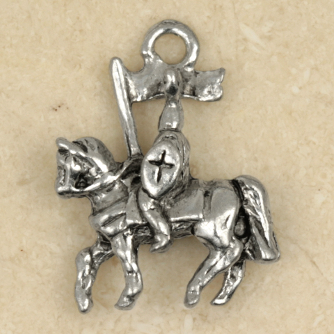 Prince Charming-KNIGHT on HORSE PENDANT NECKLACE-Renaissance King Arthur Jewelry
