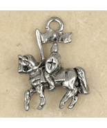 Prince Charming-KNIGHT on HORSE PENDANT NECKLAC... - $16.97