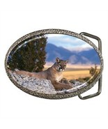 COUGAR MOUNTAIN LION PANTHER BELT BUCKLE CHROME... - $8.00