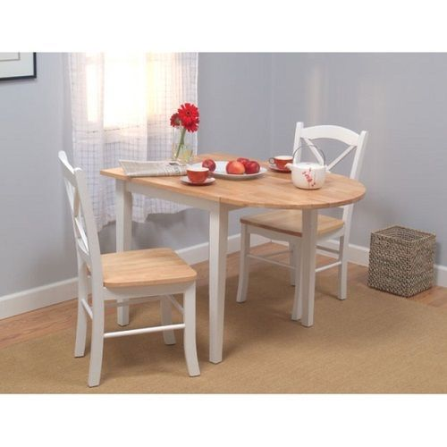 Drop Leaf Dining Table Set W Chairs Small Space Country Cottage Style