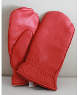 NW SOFT LEATHER LADIES WOMEN MITTEN w/ inside F... - $39.99