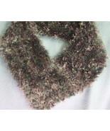 Handknit Retro Ladies Scarf Collar in Silver Bl... - $8.95