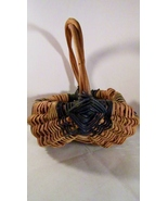 Farmyard Egg Basket Wicker with Grape Vine Hand... - $14.99