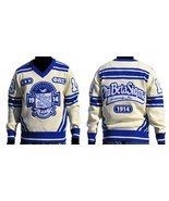 Phi Beta Sigma Long Sleeve V neck Sweater GOMAB... - $145.99