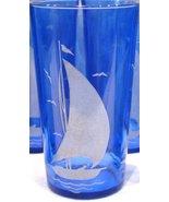 Hazel Atlas Ships Tumbler Cobalt Blue - $14.00