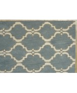 FRENCH ACCENT SCROLL TILE GRAY 3' x 5' HANDMADE... - $135.15