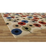 Hand Tufted Circle Dots Multi Color 3' x 5' Con... - $135.15