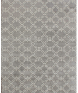 Trellis Scroll Gray 8' x 10' Contemporary Handm... - $509.00
