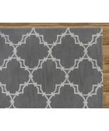 Hand Tufted Trellis Gray 5' x 8' Contemporary W... - $211.65