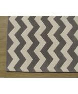 Chevron Zig Zag Gray 5' x 8' Handmade Persian S... - $211.65