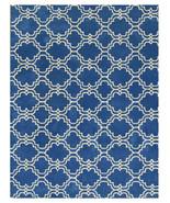Moroccan Scroll Tile Rug Blue 5' x 8' Contempor... - $211.65