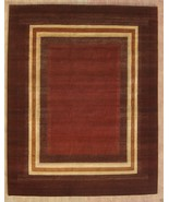 KASHKOLI BROWN GABBEH 8' x 10' TRIBAL HANDMADE ... - $2,039.32