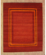 KASHKOLI RUST GABBEH 8' x 10' TRIBAL HANDMADE N... - $2,039.32