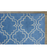 FRENCH ACCENT SCROLL TILE LIGHT BLUE 9X12 HANDM... - $769.00
