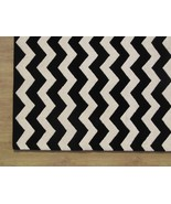 Chevron Zig Zag Black 9' x 12' Handmade Persian... - $769.00