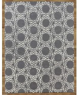 Arabesque Scroll Gray 8' x 10'  Handmade 100% W... - $509.00