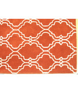 FRENCH ACCENT SCROLL TILE ORANGE 5' x 8' HANDMA... - $211.65